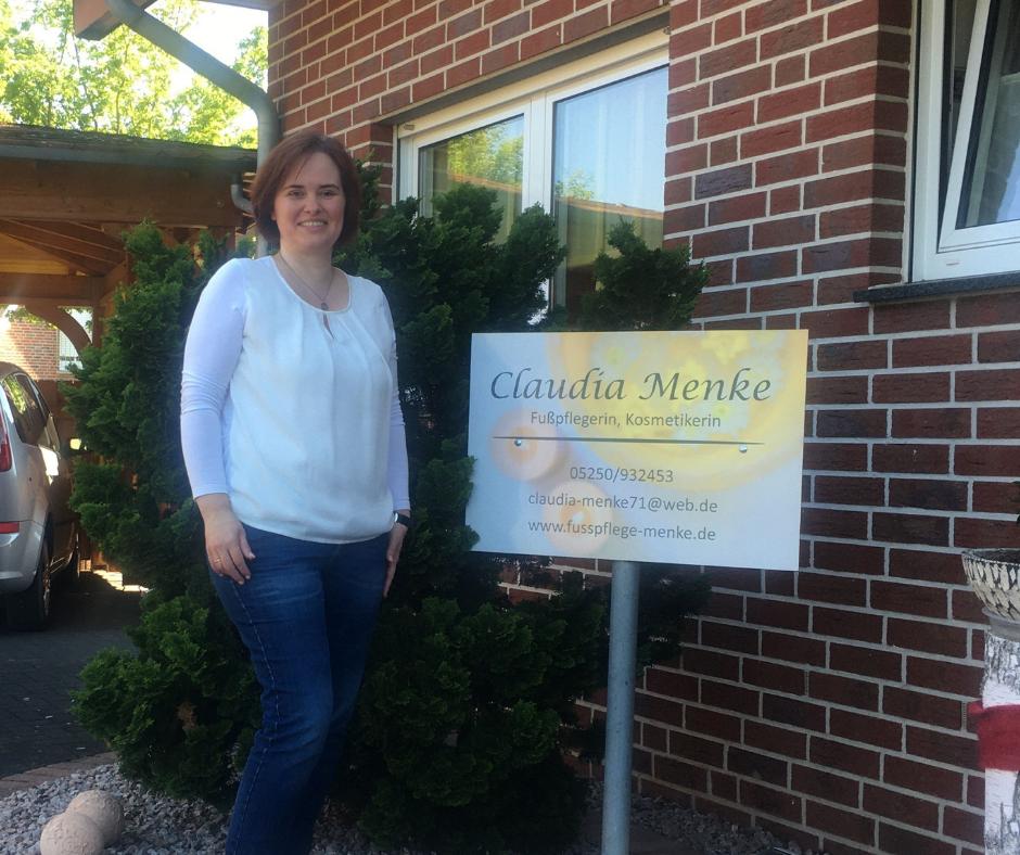 Neumitglied: Claudia Menke - Fußpflegerin, Kosmetikerin und Gesundheitsberaterin